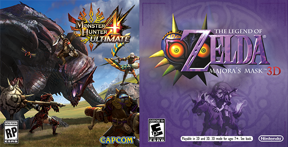 Réservation Zelda: Majora's Mask & Monster Hunter 4: Ultimate
